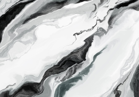 Super duper gorgeous abstract painting. Liquid paint technique background. Marble effect painting. Background for wallpapers, posters, cards, invitations, websites. Mixed gray, black and white