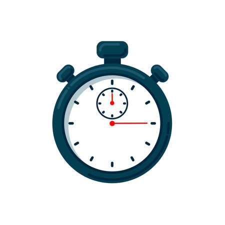 Timer icon. Vector stopwatch illustration - speed measurement tool. Fast delivery and express services concept 矢量图像