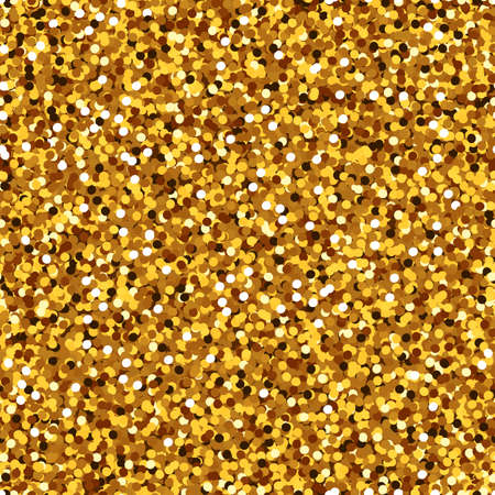 Gold glitter seamless pattern, Shiny party background with golden shimmer texture. Holiday vector abstract background. Vector illustration