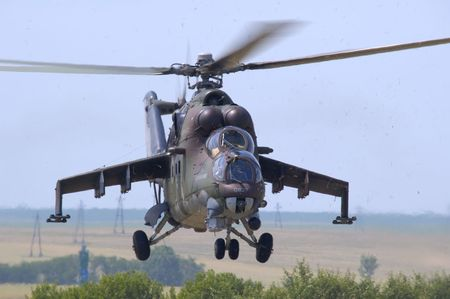 mil mi-24 hind Stock Photo
