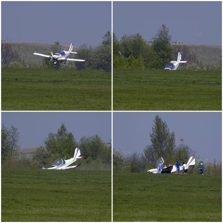 Ultralight aircraft crashed during landing at Letnany airfield
