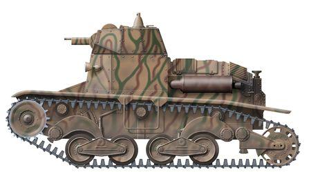 prototype: Ansaldo M6 prototype with twin machine guns                Stock Photo