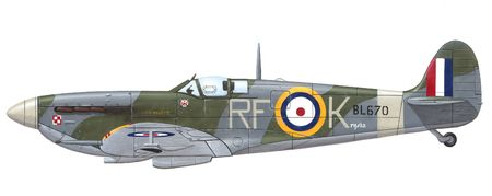 british army: Supermarine Spitfire Mk. VB historic ww2 british fighter               Stock Photo