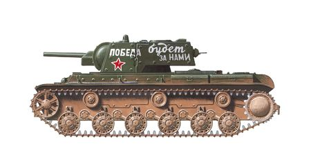 KV-1 heavy russian world war 2 tank               Stock Photo