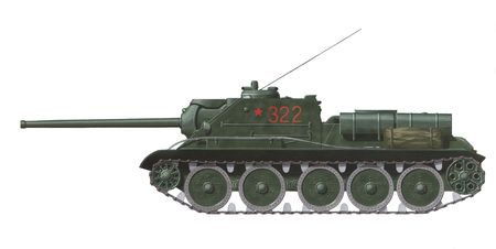 SU-85 russian world war 2 self propelled gun            版權商用圖片