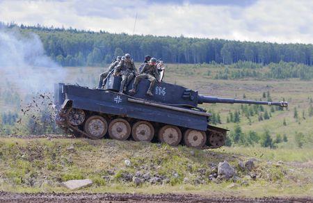 호랑이 역사적인 독일 ww 2 탱크 복제