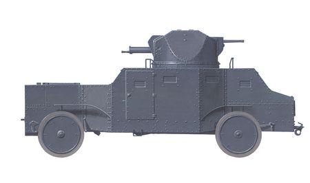 armoured: hand drawn illustration of czechoslovakian armoured vehicle prototype