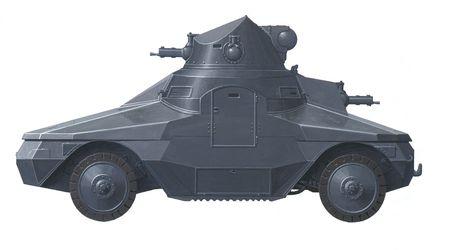 armoured: hand drawn illustration of czechoslovakian armoured vehicle
