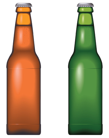 Beer bottle - no mesh, blend and gradient only Illustration