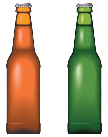 ámbar: Botella de cerveza - sin malla, mezcla y pendientes s�lo