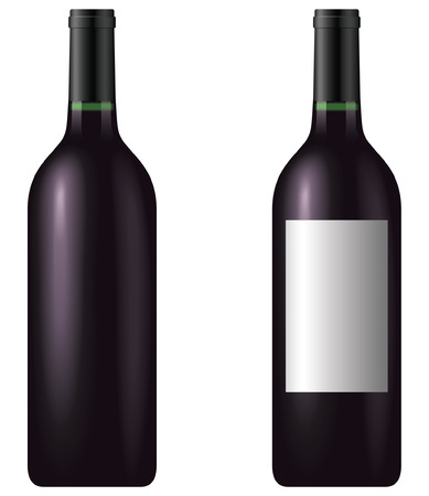 Wine bottle - blend and gradient only Vector