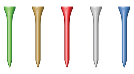 blend: Golf tee - blend and gradient only Illustration