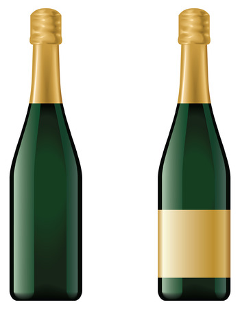 Champagne bottle - blend and gradient only Vector