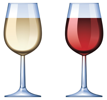 Copa de vino - mezcla y sólo gradiente Ilustración de vector