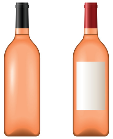 Rose wine -  blend and gradient only Illustration