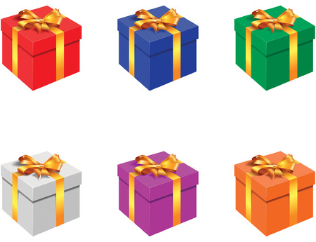 Gift box - blend and gradient only Stock Vector - 3878387