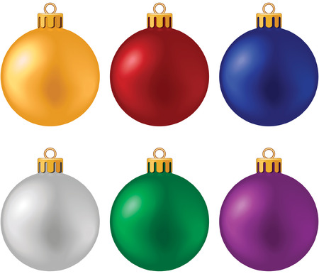 Christmas ball set - blend and gradient only 向量圖像