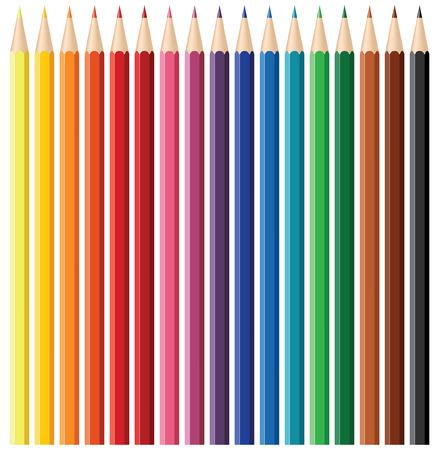 색상 연필 세트 - 블렌드 및 그라디언트 만
