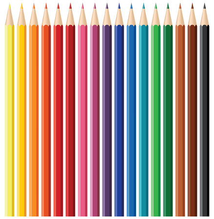 Color pencil set - blend and gradient only Vector