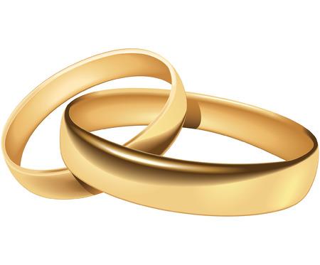 proposal of marriage: Fedi - si fondono e gradiente solo Vettoriali