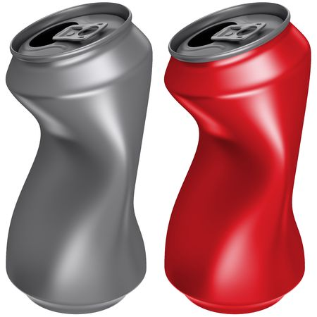 drink can: 3D computer illustration on white background Stock Photo