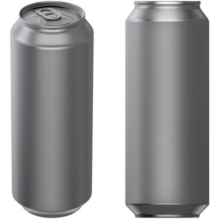 carbonated: Drink can 500 ml Stock Photo