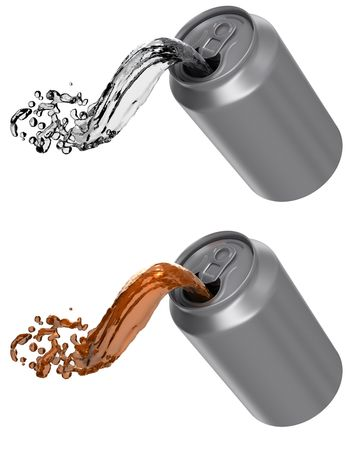 drink can: Can pouring soda