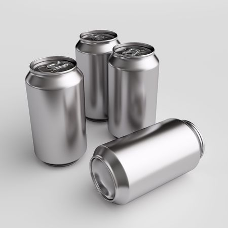 carbonated beverage: Drink cans