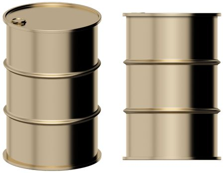 Gold barrel Stock Photo