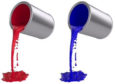 페인트가 쏟아져 나올 수있다. 스톡 콘텐츠