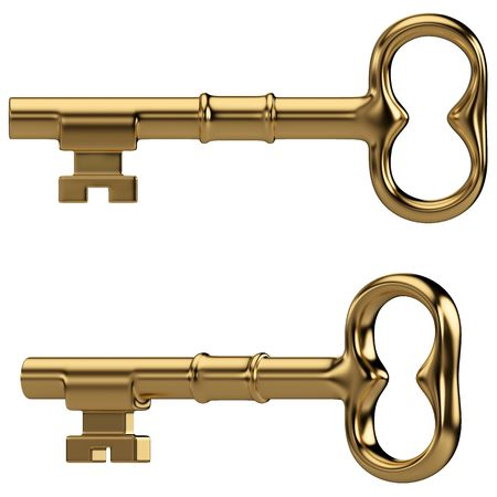 Isolated gold key