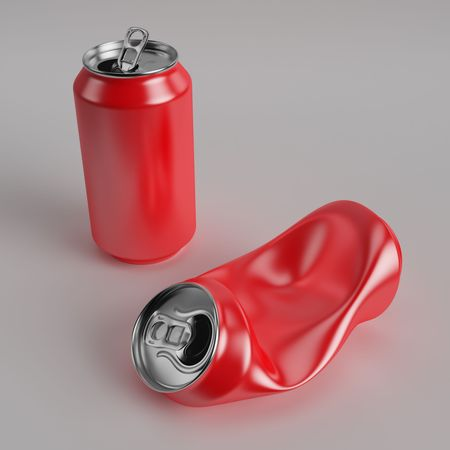 Red drink can