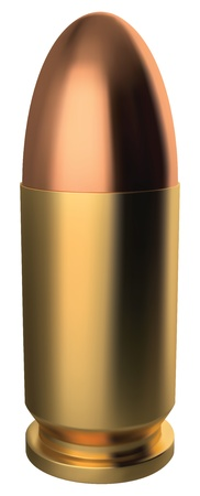 munition: 9mm bullet Illustration