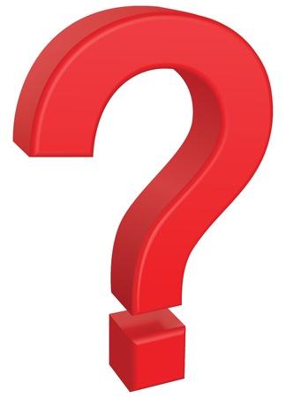 interrogation mark: Question mark