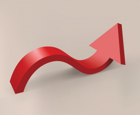 flechas curvas: Flecha curva roja Vectores