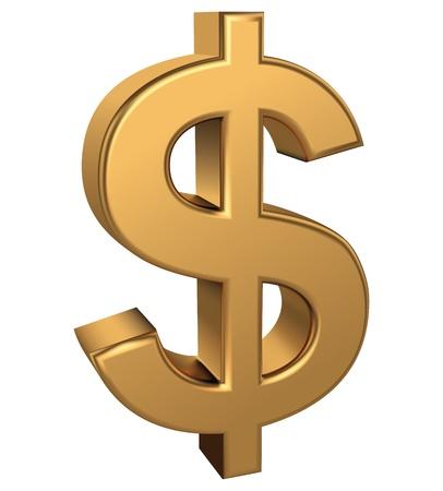 Zlatý znak dolaru Ilustrace