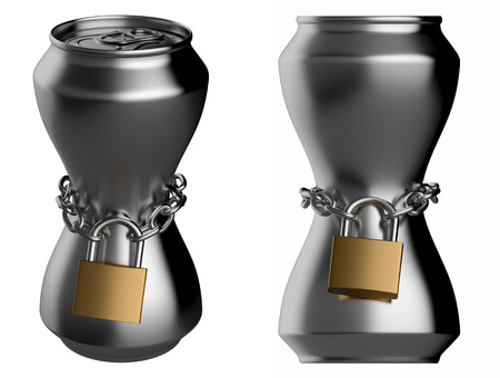 drink can: Locked thin drink can
