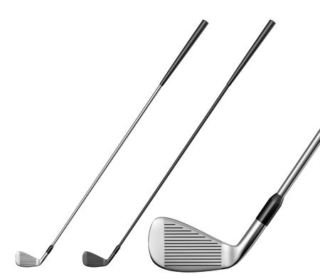 cleek: Golf club Illustration