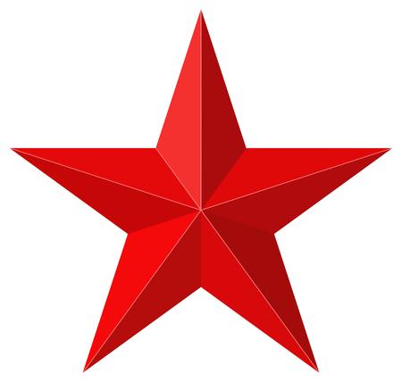 Czerwona gwiazda kształtów 3D