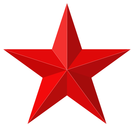 red star: Red star 3D shape