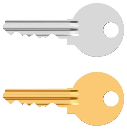yale: Pin tumbler lock key