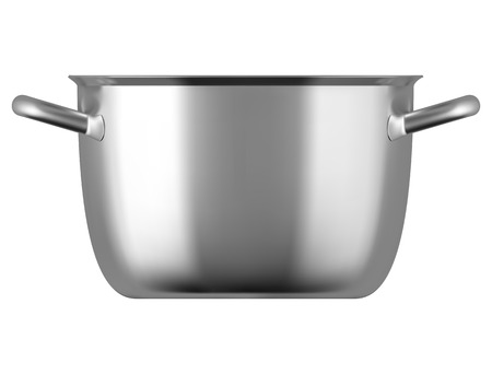stainless steel pot: Steel cooking pot