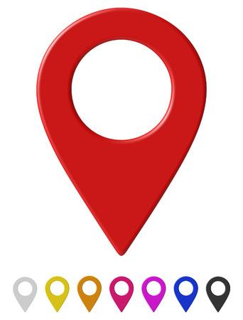 Mapa wskaźnik ilustracji wektorowych. Ilustracje wektorowe