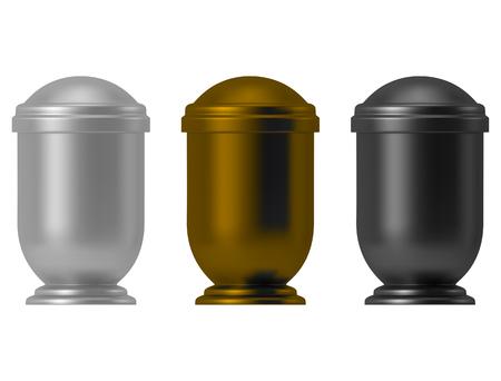 Illustrazione dell'urna di cenere isolata su white