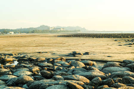 Many stone on the bigest sea beach in the whole world