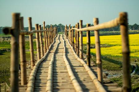 Mega bridge made in solid rip bamboo