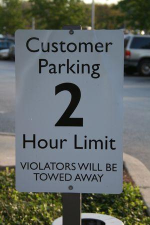 お客様駐車場の看板 写真素材