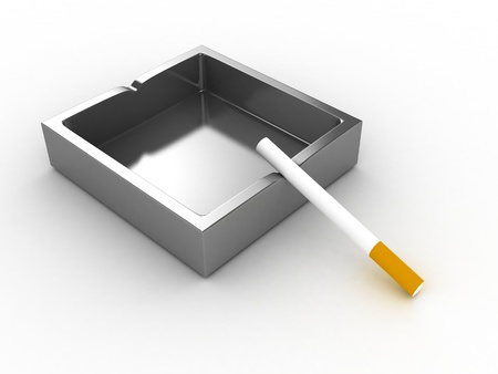 ashtray: Ashtray and Cigarette