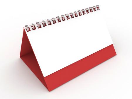 numerate: 3d Blank Calendar