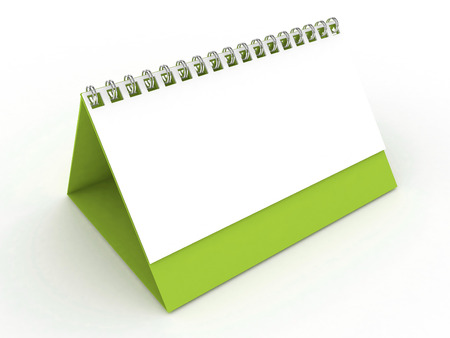 3D Blank Calendar-Light Green photo
